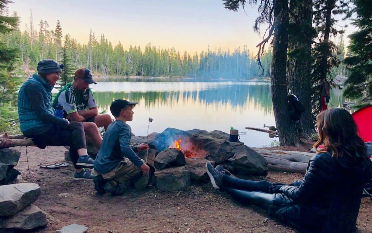 Camping people