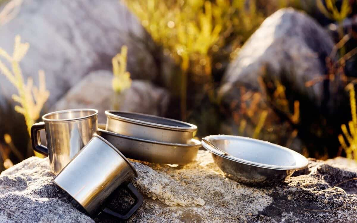 Cookware on stone