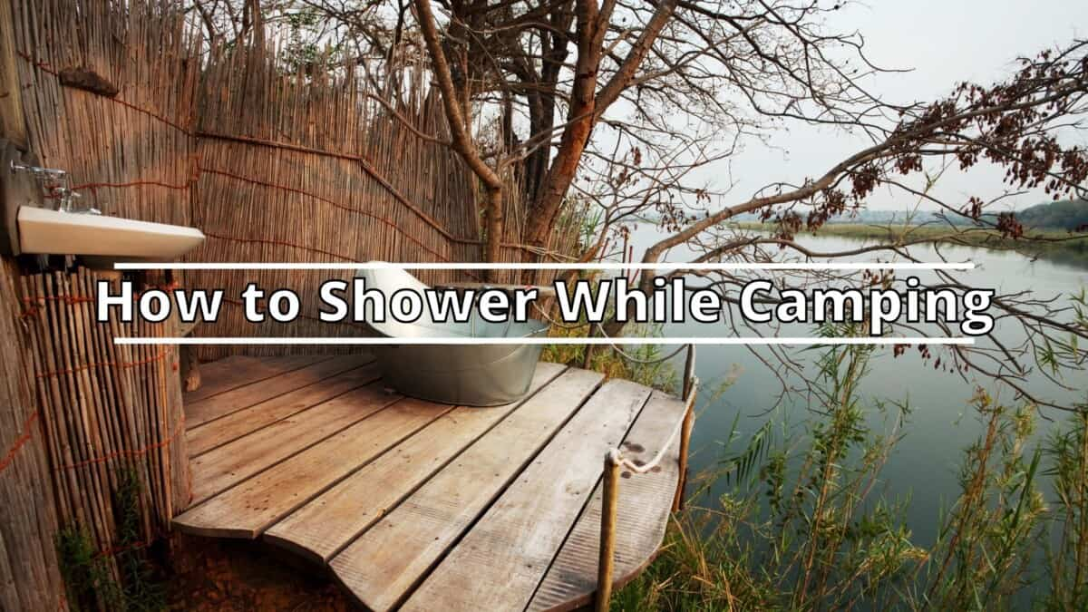 Shower While Camping