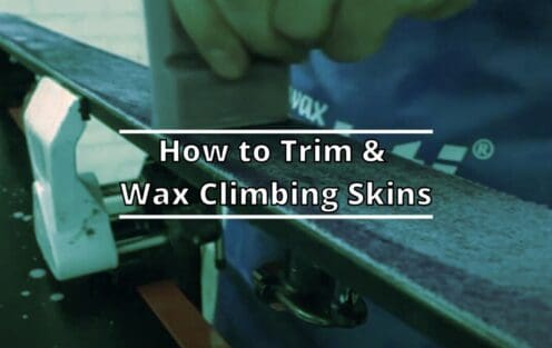 How to Trim and Wax Climbing Skins