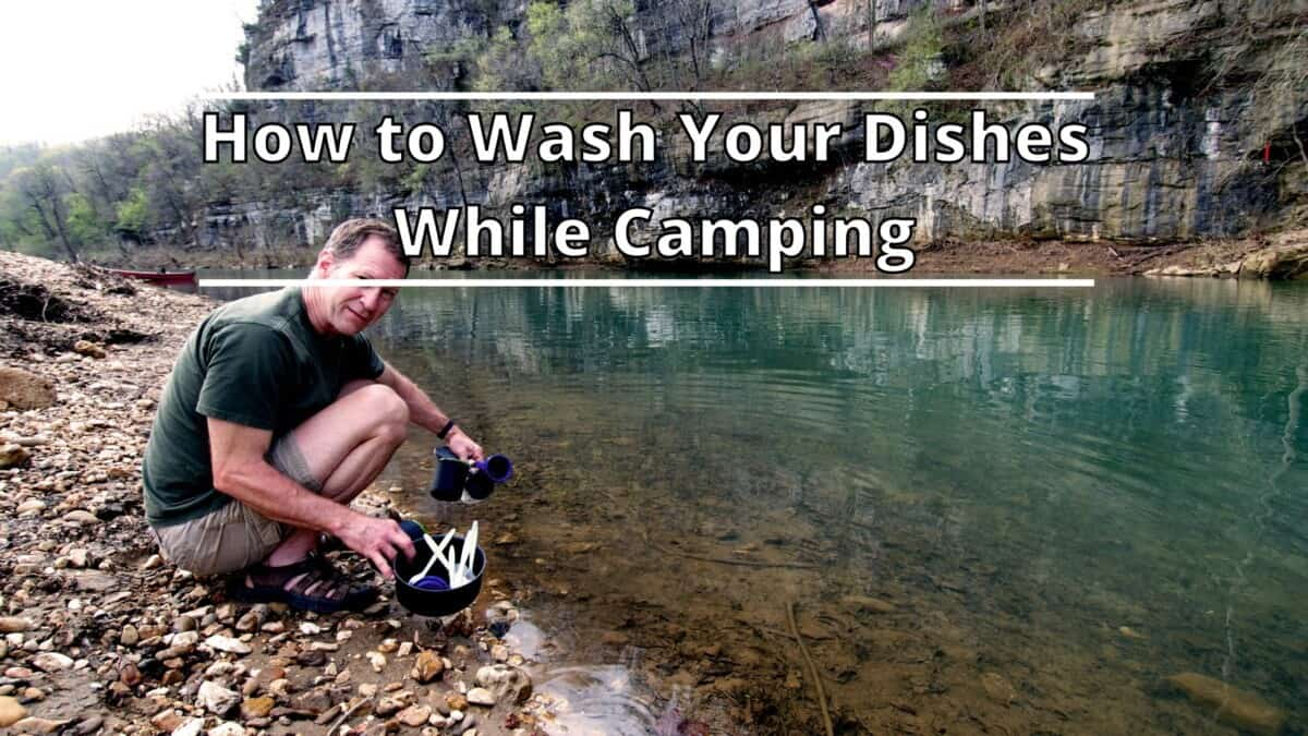Washing Dishes While Camping