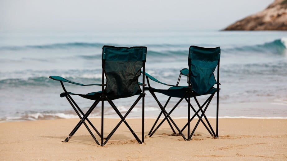 Camping Chair on beach sand