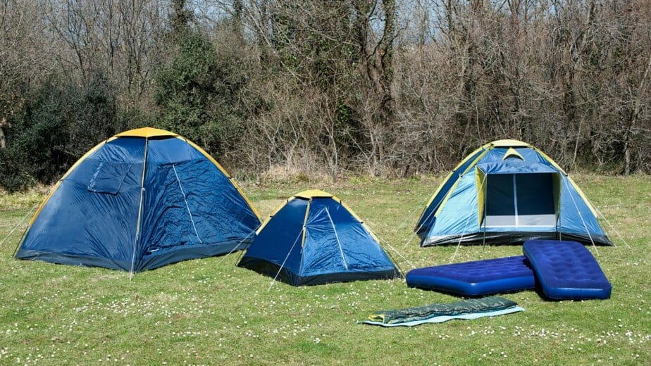 Tents on grass